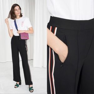 & Other Stories racer stripe trouser pants
